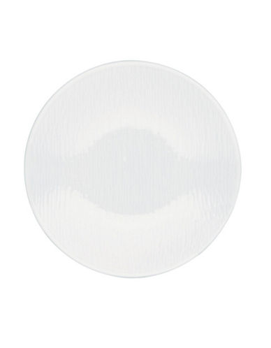 Noritake W Wave Appetizer Plate-WHITE ON WHITE-One Size