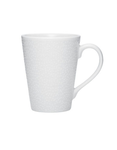 Noritake Wow Snow Mug  12 Oz-WHITE ON WHITE-One Size
