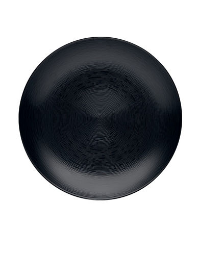 Noritake Bob Swirl Dinner Plate-BLACK ON BLACK-One Size