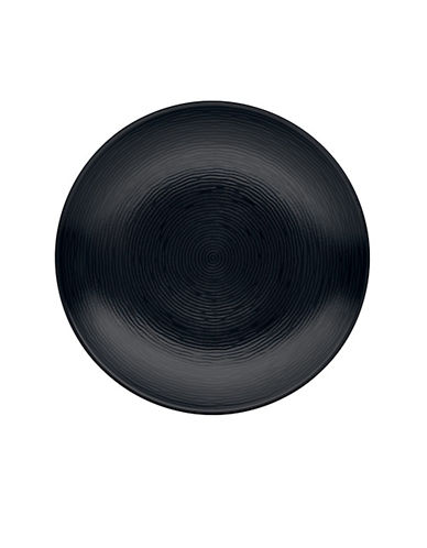 Noritake Bob Swirl Salad Plate-BLACK ON BLACK-One Size