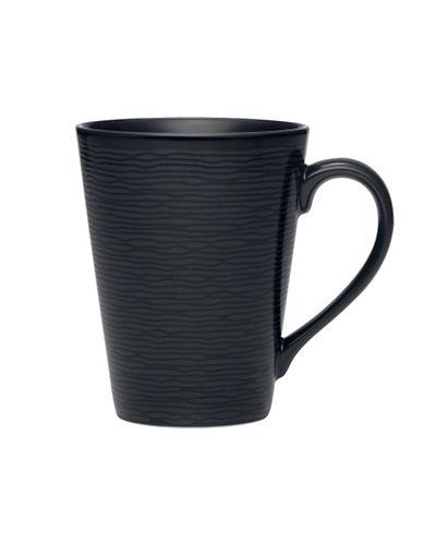 Noritake Bob Swirl Mug  12 Oz-BLACK ON BLACK-One Size