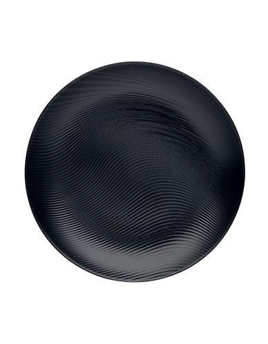 Noritake Bob Dune Dinner Plate-BLACK ON BLACK-One Size