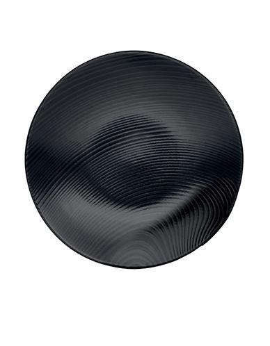 Noritake Bob Dune Appetizer Plate-BLACK ON BLACK-One Size