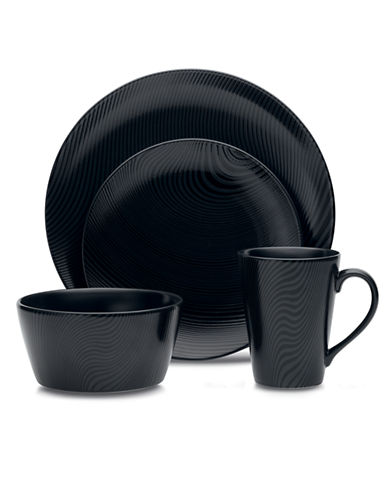 Noritake BoB Dune 4 Piece Place Setting-BLACK-One Size 86389540_BLACK_One Size