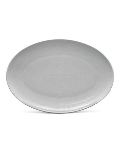 Noritake GoG Swirl Oval Platter-GREY-16in