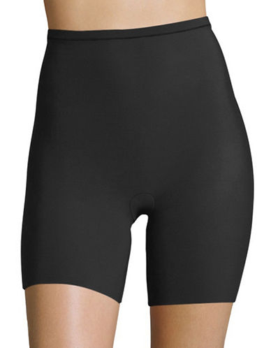Maidenform Shorty Tummy  Hips and Thighs Control Slimmer-BLACK-Large