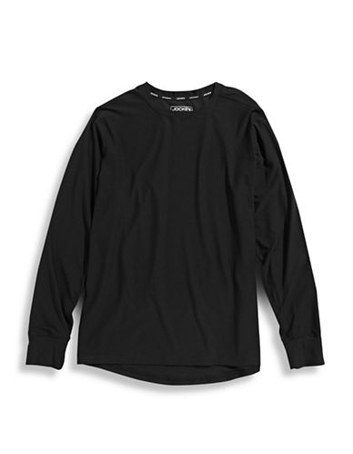 Jockey Sport Thermal Long Sleeve Shirt-BLACK-X-Large