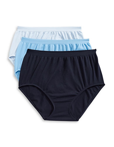 Jockey Three-Pack French Cut Briefs-BLUE-8