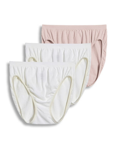 Jockey Three-Pack French-Cut Hipsters-WHITE/PINK-7