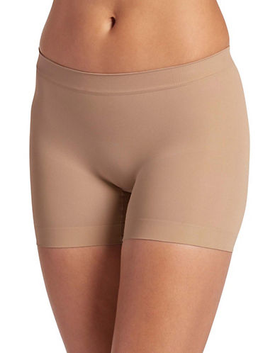 Jockey Skimmies Microfibre Slip Shorts-BEIGE-Large