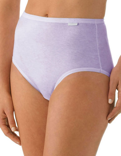Jockey Plus Three-Pack Elance Combed Cotton Briefs-PERIWINKLE-10