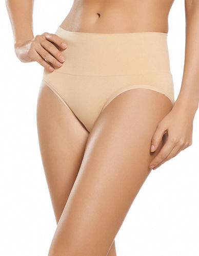 Jockey Seamfree Shaping Briefs-BEIGE-X-Large