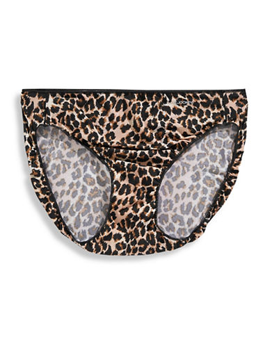 Jockey No Panty Line Bikini Briefs-COUGAR PRINT-6