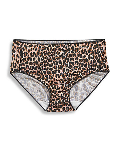 Jockey No Panty Line Hip Briefs-COUGAR PRINT-8