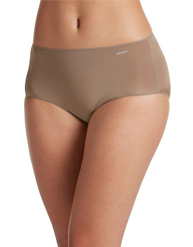Jockey No Panty Line Hip Briefs-DEEP BEIGE-8