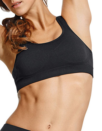 Jockey High Support 7245 Sports Bra-BLACK-Medium