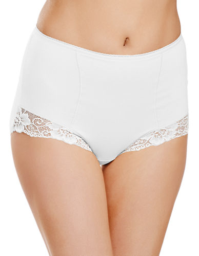 Jockey Jockey Cotton Shaping Brief with Lace Style 7703-WHITE-Small