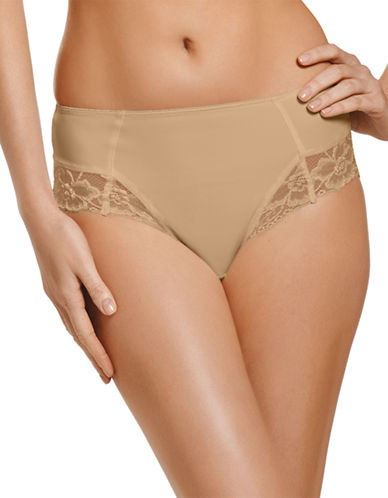 Jockey Jockey Microfiber Shaping Hi Cut panty with Lace Style 7707-LIGHT-X-Large