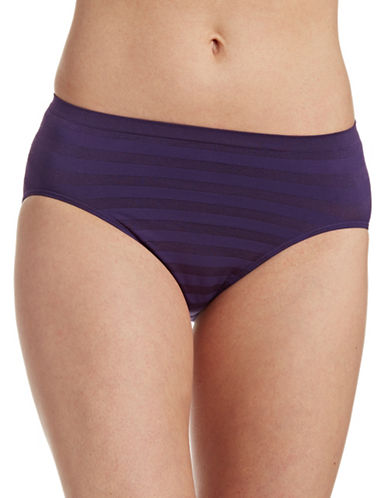 Jockey Matte and Shine Hi-Cut Briefs-PLUM PUDDING-6