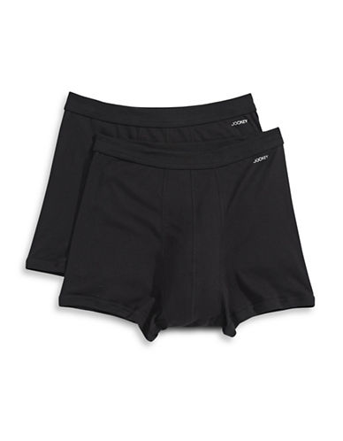 Jockey Two-Pack Boxer Briefs-BLACK-X-Large