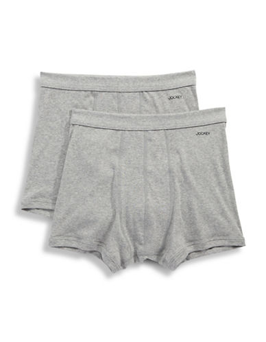 Jockey Two-Pack Seamless Waistband Boxer Briefs-GREY-X-Large