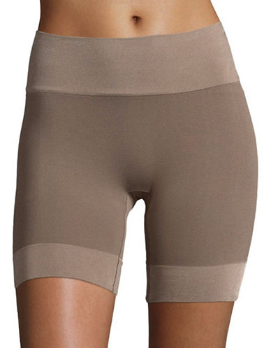 Jockey Skimmies Short-Length Wicking Slipshorts-CAFE LATTE-Medium