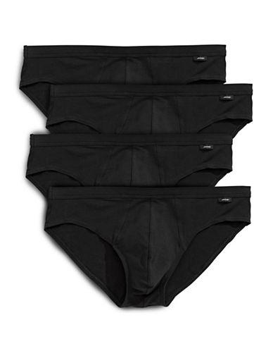Jockey Four-Pack Bikini Briefs-BLACK-Small