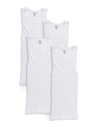 Jockey Four-Pack Classic Cotton A-Shirts-WHITE-Medium