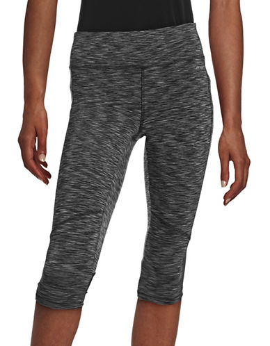 Jockey Reflective Logo Active Leggings-BLACK/GREY-X-Large