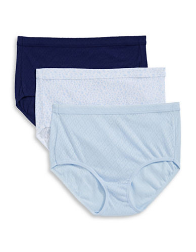 Jockey Three-Pack Elance Breathe Briefs-BLUE MULTI-9