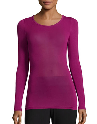 Jockey Long Sleeve T-Shirt-PURPLE-Small
