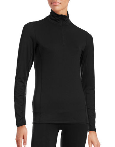 Jockey Mock Neck Thermal Top-BLACK-Small