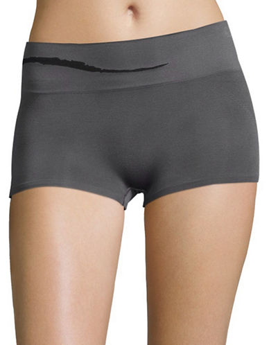 Jockey Sporties Wave Boyshorts-GREY-5