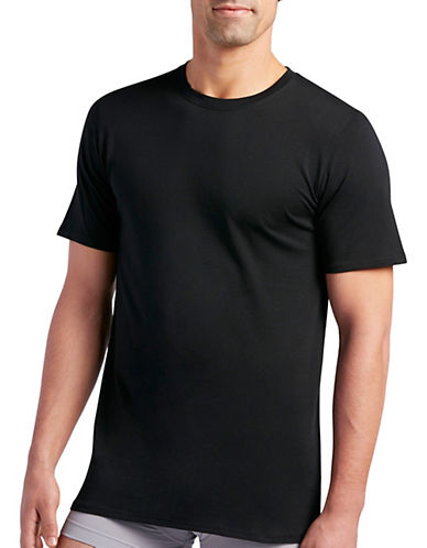 Jockey Two-Pack Staycool Plus Crew Neck T-Shirts-BLACK-Medium