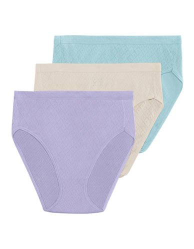 Jockey Three-Pack Elance Breathe French Cut Briefs-PASTEL PURPLE-6