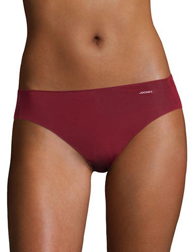 Jockey No Panty Line Bikini Briefs-RED-6