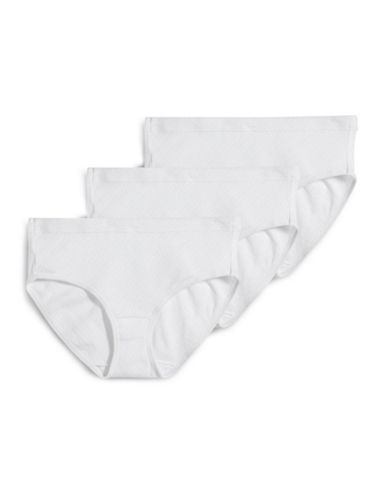 Jockey Three-Pack Diamond Cotton Hipsters-WHITE-6