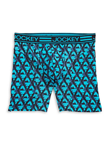 Jockey Athletic Fit Sport Midway Boxer Briefs-FRESH BLUE-Small