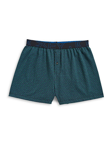 Jockey Active Blend Knit Boxer-DARK GREEN-Small