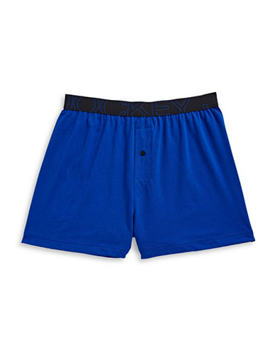 Jockey Active Blend Knit Boxer-MEDIUM BLUE-Medium