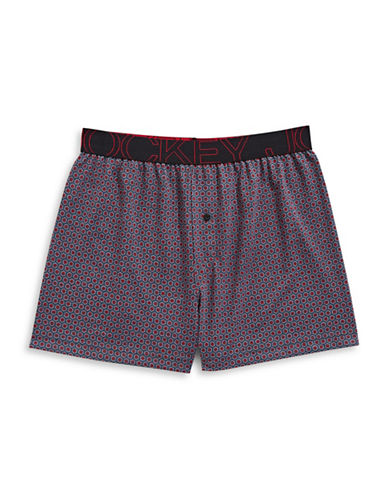 Jockey Active Blend Knit Boxer-RED-Small