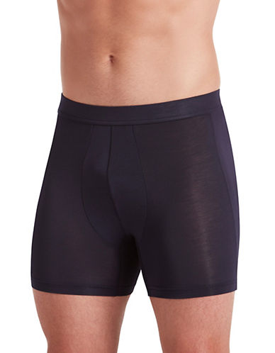 Jockey Supersoft Boxer Briefs-BLACK-Medium