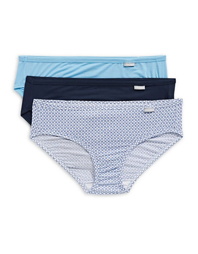 Jockey Three-Pack Elance Bikini Briefs-GEO BLUE-7