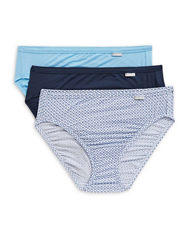 Jockey Three-Pack Supersoft French Cut Briefs-GEO BLUE-8