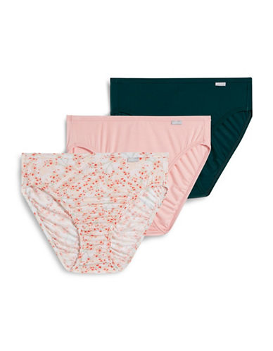 Jockey Three-Pack Supersoft French Cut Briefs-PINK-7