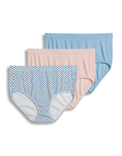 Jockey Three-Pack Elance Breathe Briefs-PINK-7