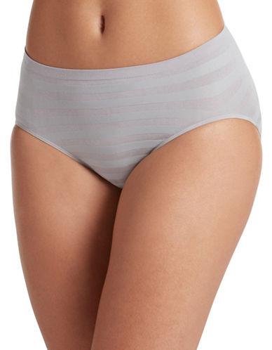 Jockey Matte and Shine Hi-Cut Briefs-GREY-5