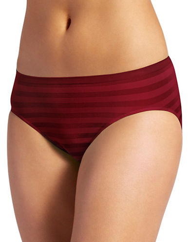 Jockey Matte and Shine Hi-Cut Briefs-RED-7