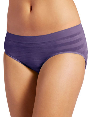 Jockey Modern-Fit Comfies Matte and Shine Seamfree Hipster-PURPLE-Medium
