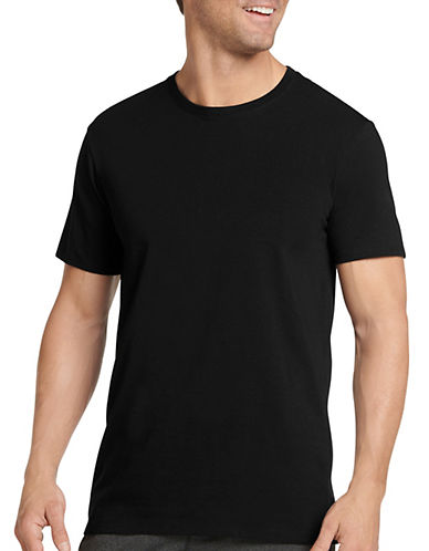 Jockey Two-Pack Cotton Stretch T-Shirts-BLACK-Large